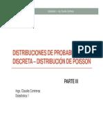 Distribución Poisson en Estadística