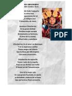 A LA MUJER CHINCHERINA - Poesia Leandro Cordova