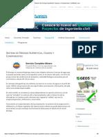 Sistema de Drenaje Superficial, Causas y Componentes