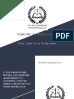 Los órganos del Estado y el Derecho Administrativo