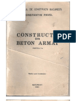 Constructii Din Beton Armat (Partea I-A) by C. Pavel (1981)