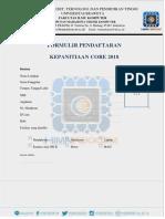 pendaftaran core 2018
