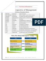 Chapter # 2 Historical perspective of Management