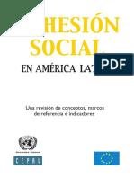 La Cohesión Social en América Latina. Una Revisión de Conceptos, Marcos de Referencia e Indicadores