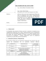Informe Tecnico de Instalaciones Electricas