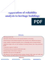 Application of reliability analysis in Heritage buildings