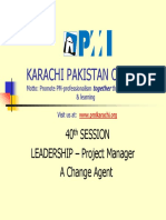 40 Session LEADERSHIP Project Manager a Change Agent