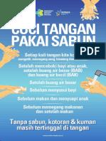 Poster Cuci Tangan 34x50cm