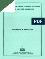 plumbing and sanitary syllabus