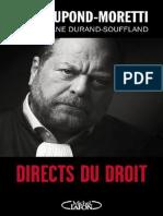 Éric Dupond Moretti Directs Du Droit
