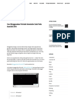 Cara Menggunakan Perintah Annotative Scale Pada AutoCAD 2014 - Cara AutoCAD