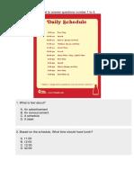 Schedule Text 1