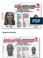 New South Carolina driver's licenses