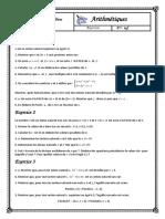 Arithmétiques-5-Exercices