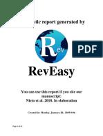 Reporte de búsquedas de RevEasy