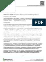 El Congreso de la Lengua Española en Córdoba fue declarado de interés nacional