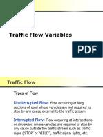 Traffic Flow Variables