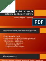CDG - Reforma Política (2019). Elementos básicos de una propuesta