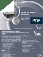 Testing & Analysis of Concrete