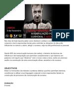Curso Avançado de Influencia e Manipulação Por Linguagem Corporal e Micro Expressões Lisboa Fev_2019