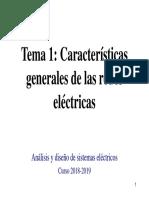 Tema 1. Características Generales de Las Redes Eléctricas