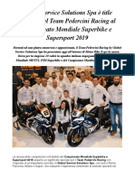 Global Service Solutions Spa, In Occasione Del Moto MBE Presenta Il Nuovo Team Pedercini Racing