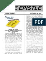 October 2010 Epistle