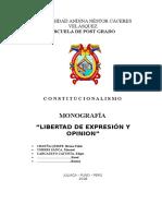 Monografia Libertad de Expresion