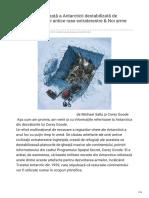 Antarctica Destabilizata de Extraterestri