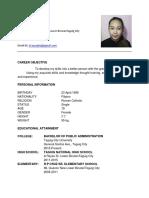 Joy Resume