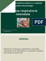 Detresa Respiratorie Neonatala. Ictere NN