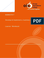 Learner Workbook Business Plan