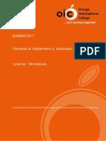 Learner Workbook Business Plan