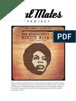 Amerigo Gazaway - Nina Simone & Lauryn Hill - The Miseducation of Eunice Waymon - Liner Notes