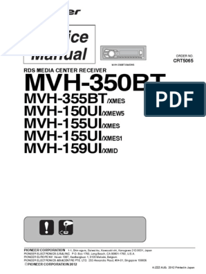 pioneer_mvh-350bt_mvh-150ui_mvh-155ui_mvh-159ui_sm.pdf | Decibel | Hertz Scribd