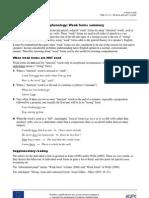 Phon Weak Forms Summary