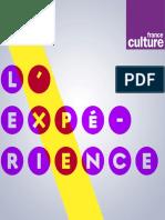 Dossier de presse L'Experience, nouveau programme de France Culture