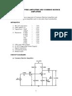 1. Common Emitter Amplifier & Common Source Amplifier
