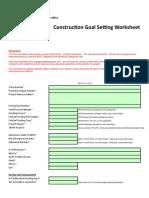 ADOT GoalSettingWorksheet Construction