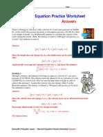 Equation practice worksheet