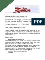Effects of Tesla Purple Plate
