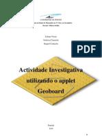 Actividade Investigativa No Geoboard