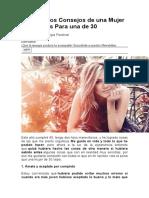 20 Honestos Consejos de una Mujer de 40 Años Para una de 30.doc