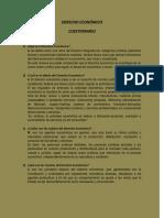 derecho económico, Cuestionario i IV