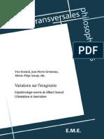 Alberto Araujo (éd.), Felipe_ Durand, Yves_ Sironneau, Jean-Pierre - Variations sur l'imaginaire _ L'épistémologie ouverte de Gilbert Durand - Orientations et innovations. (2015, Primento Digital Publishing)