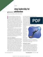 Transforming Leadership for Patient Satisfaction