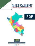 ¿Quién es quién? Gobernadores Regionales 2019 - 2022