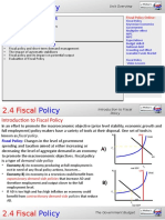 2.4 Fiscal Policy