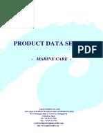 Catalogue PRODUCT DATA SHEETS