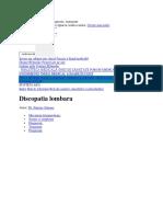 discopatia lombara